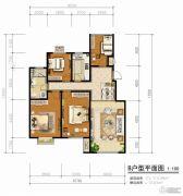 青啤・��悦湾4室2厅1卫113平方米户型图