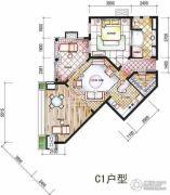 东和福湾1室1厅1卫100平方米户型图