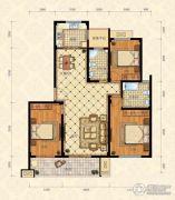 城南春天3室2厅2卫134平方米户型图