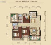 联发柳雍府3室2厅2卫95平方米户型图