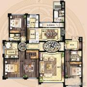 保利海德公馆4室2厅3卫281平方米户型图