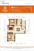 北城大观2室2厅1卫100平方米户型图