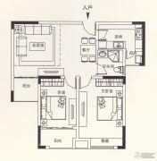 锦诚盛世2室2厅1卫89平方米户型图