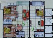 春天海景2室2厅1卫48--88平方米户型图