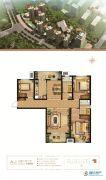 万和城3室2厅2卫140平方米户型图