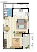 新加坡尚锦城1室1厅1卫56平方米户型图