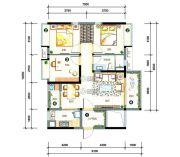 万科柏悦湾3室2厅1卫88平方米户型图