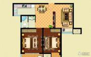 华泽天下 高层2室2厅1卫81平方米户型图