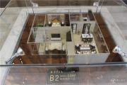 华泽天下 高层2室2厅1卫84平方米户型图