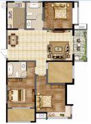 香榭里畔山兰溪4室2厅2卫145--147平方米户型图