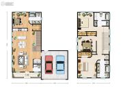 休斯顿贝尔湾精品独栋别墅4室2厅3卫207平方米户型图