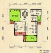 天麟・时代经典1室2厅1卫65平方米户型图