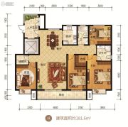众美凤凰府4室2厅2卫181平方米户型图