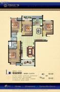 升龙天汇广场4室2厅2卫160平方米户型图