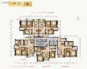 合景新鸿基泷景3室2厅2卫96--111平方米户型图