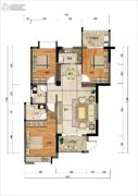 四季园3室2厅2卫0平方米户型图