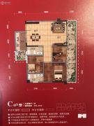 中央学府3室2厅1卫101平方米户型图