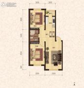 建龙・班芙小镇2室2厅1卫75平方米户型图
