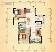 清江・月亮湾3室2厅1卫88平方米户型图