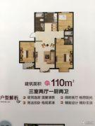 圣大・英伦国际3室2厅0卫110平方米户型图