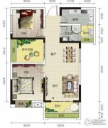 宏信依山郡3期2室2厅1卫95平方米户型图