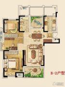 金东城世家2室2厅1卫111平方米户型图