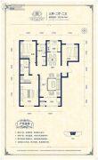 阳光揽胜3室2厅2卫124平方米户型图