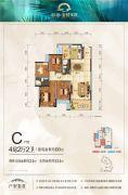 彰泰・金桥水岸4室2厅2卫110--134平方米户型图