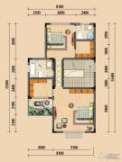 浪琴湾2室0厅2卫86平方米户型图