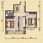 长堤湾2室2厅1卫67平方米户型图