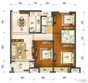 保利中央公馆3室2厅2卫100平方米户型图