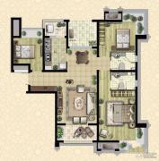 枫林天下3室2厅2卫118平方米户型图