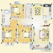 祥育苑4室2厅2卫134平方米户型图