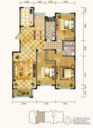 锦麟3室2厅2卫160平方米户型图