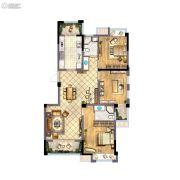 蓝爵庄园3室2厅2卫122平方米户型图