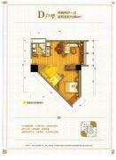 学府印象2室2厅1卫80平方米户型图