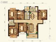 联诚雅郡5室2厅2卫125平方米户型图