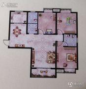 大地丽都3室2厅2卫121--132平方米户型图