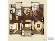 金地天际.�o华2室2厅2卫105平方米户型图