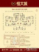 恒大城3室2厅1卫80--123平方米户型图