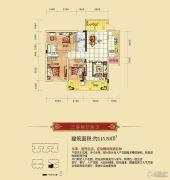雅云尚城3室2厅2卫115平方米户型图
