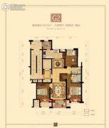 瀚江府3室2厅1卫133平方米户型图