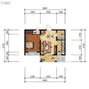 步阳江南甲第1室1厅1卫55平方米户型图