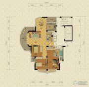 绿城蔚蓝公寓3室2厅2卫155平方米户型图