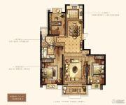 万达华府・大公馆3室2厅2卫147平方米户型图
