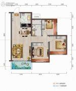 中城悦城3室2厅1卫95--97平方米户型图