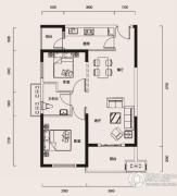 幸福时代2室1厅1卫87平方米户型图