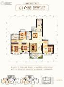 钦州恒大学府4室2厅2卫140平方米户型图