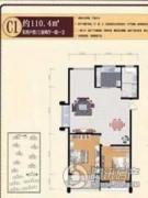 德汇公馆2室2厅1卫108--112平方米户型图