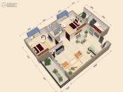 中视金海湾2室2厅1卫78平方米户型图